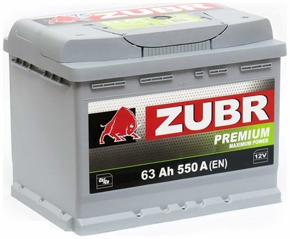 Аккумулятор Зубр Premium R+ (63Ah)