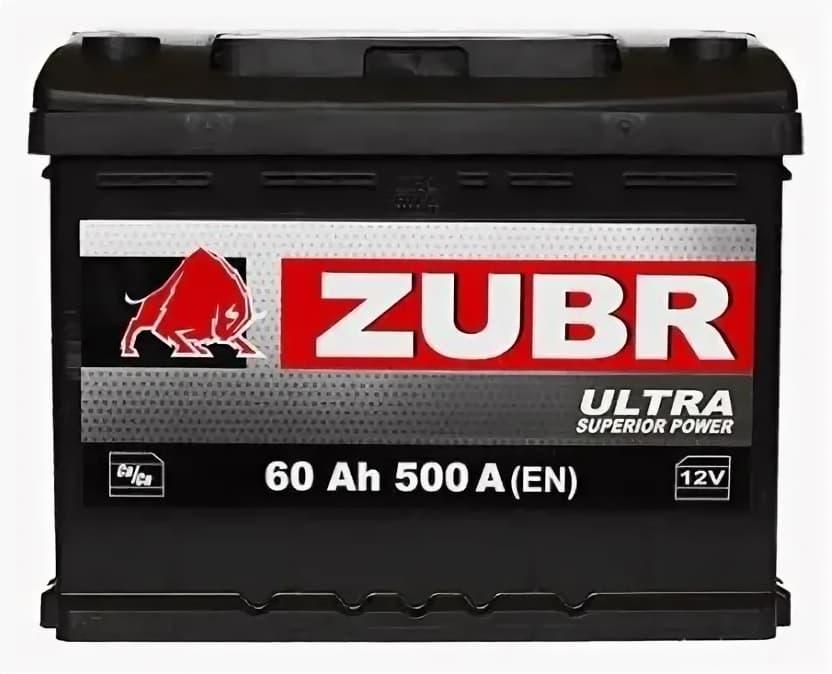 Аккумулятор Зубр Ultra L+ (60Ah)
