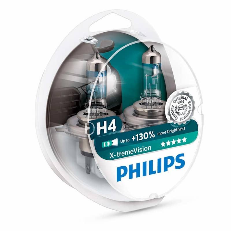 Лампа галогенная Philips H4 X-Treme Vision +130% 2 шт