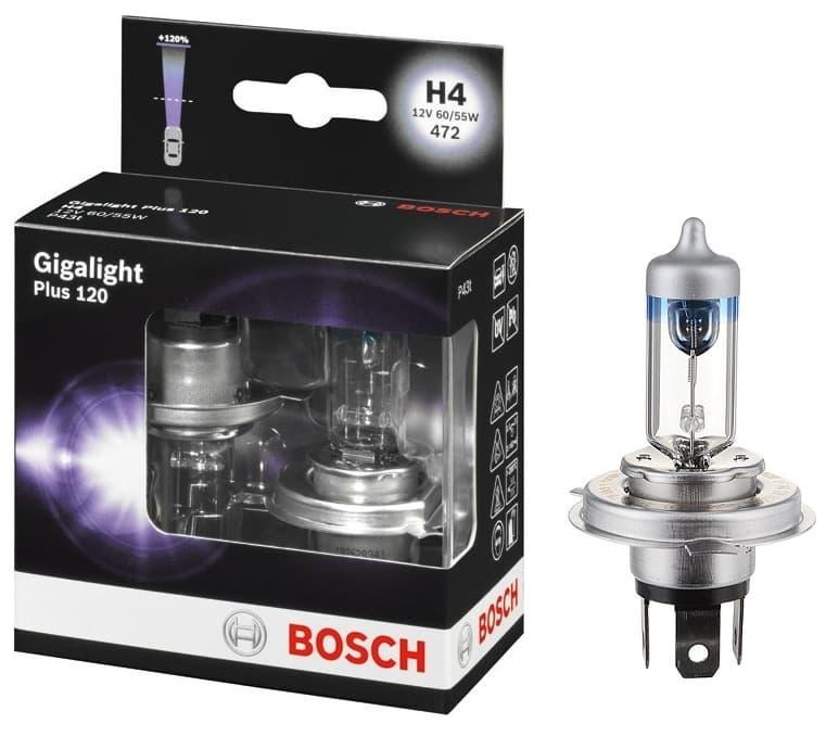 Лампа галогенная Bosch H4 Gigalight Plus 120 2 шт