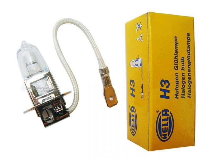 Лампа галогенная Hella H3 12V 35W (PK22s) 1 шт