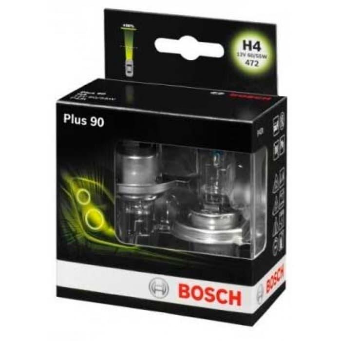 Лампа галогенная Bosch H4 Plus 90 2 шт