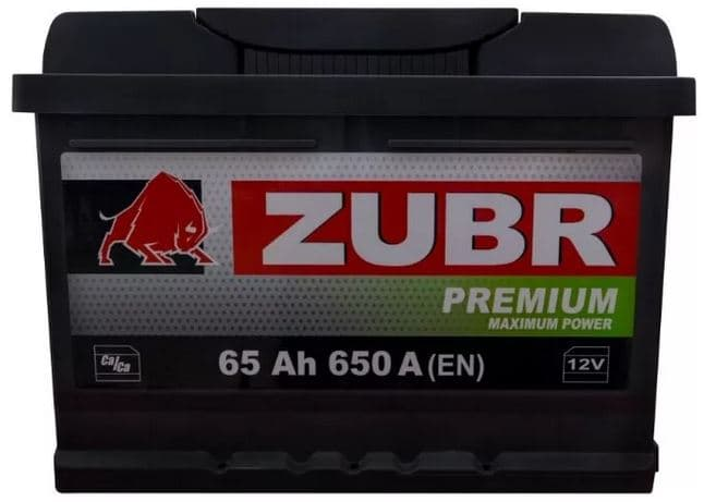 Аккумулятор Зубр Premium New R+ (65Ah)