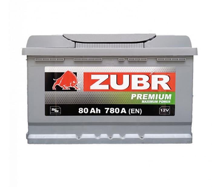 Аккумулятор Зубр Premium New L+ (80Ah)