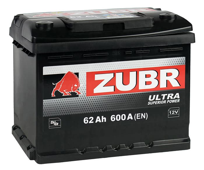 Аккумулятор Зубр Ultra New R+ (62Ah)