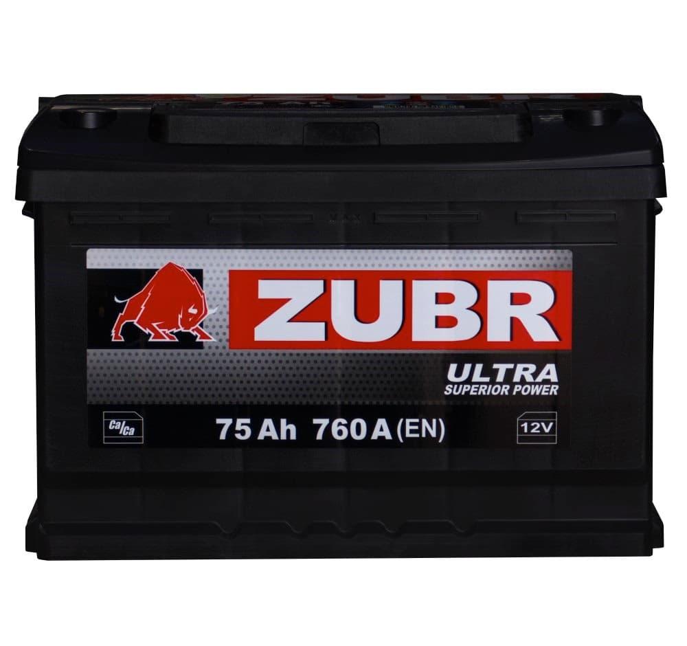 Аккумулятор Зубр Ultra New R+ (75Ah)