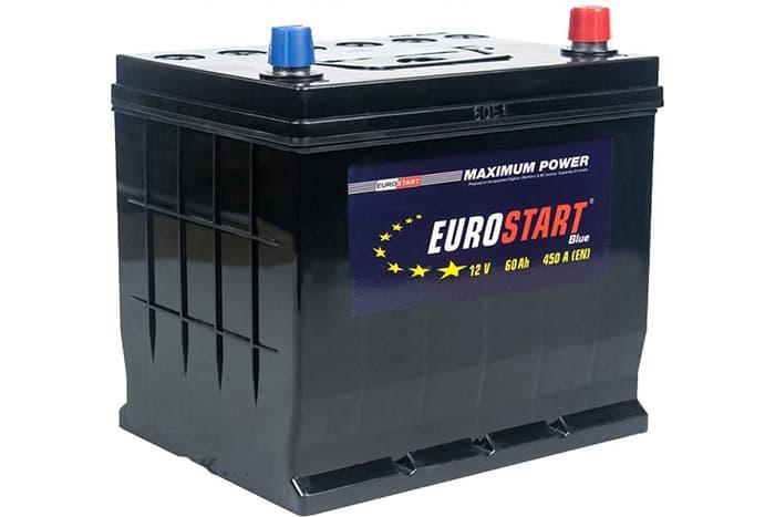 Аккумулятор Eurostart Blue Asia L+ (60 А/ч)