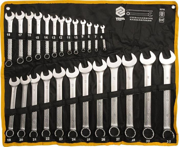 Набор ключей Vorel 25 предметов 51715