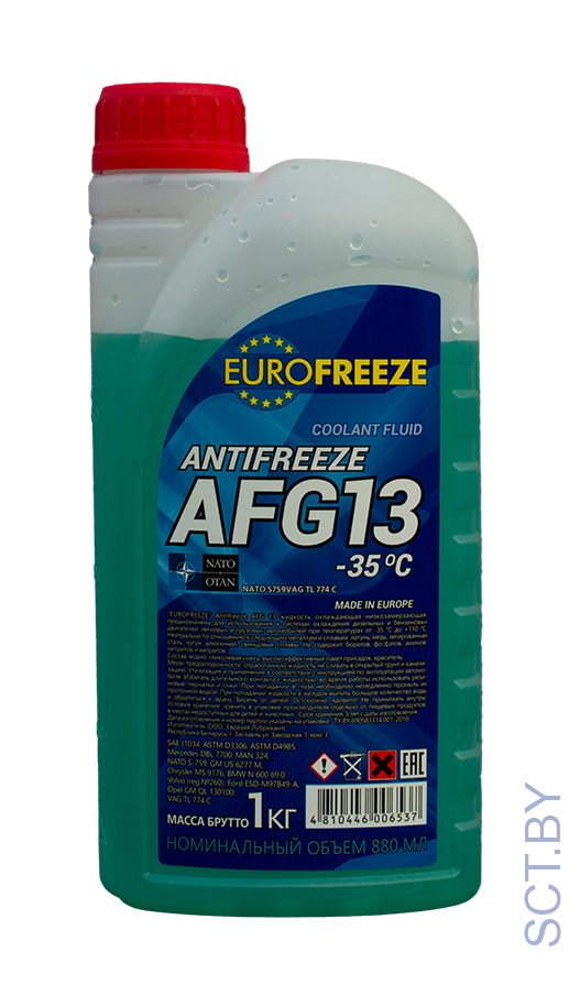 Антифриз Eurofreeze AFG 13 -40C  (1кг, зеленый)