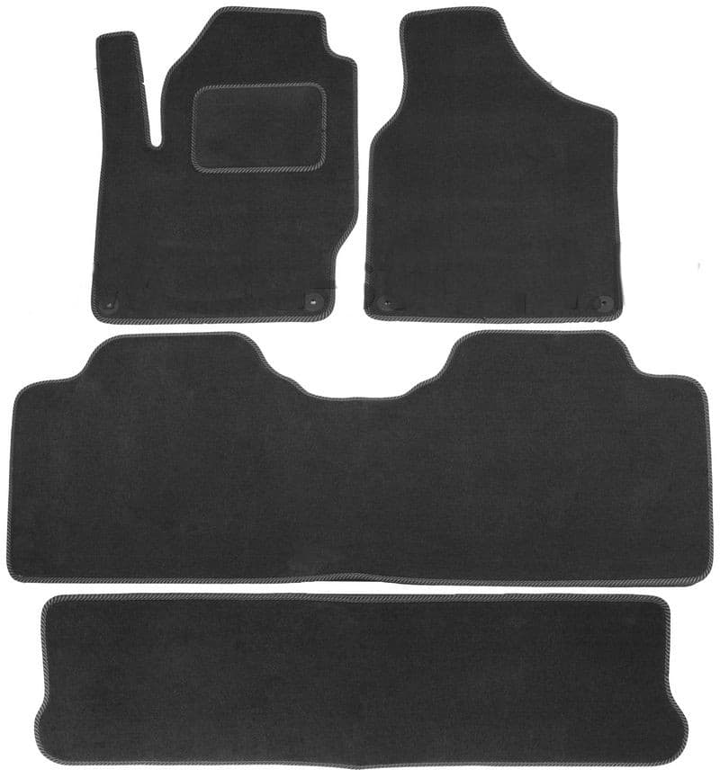 Ковры ворсовые для VW Sharan I (95-10) (3ряда) Duomat