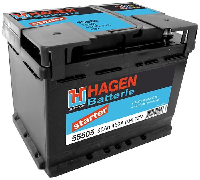Аккумулятор Hagen 55505 55 А/ч