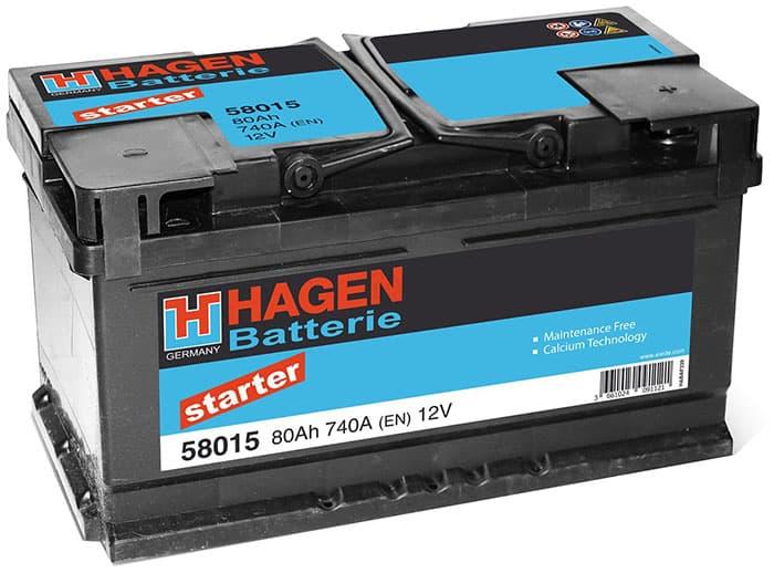 Аккумулятор Hagen 58015 80 А/ч