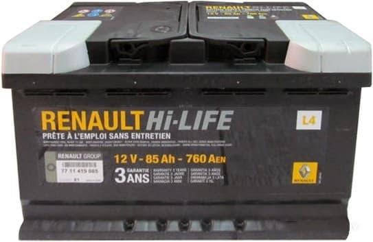 Аккумулятор Renault 7711419085 85 А/ч