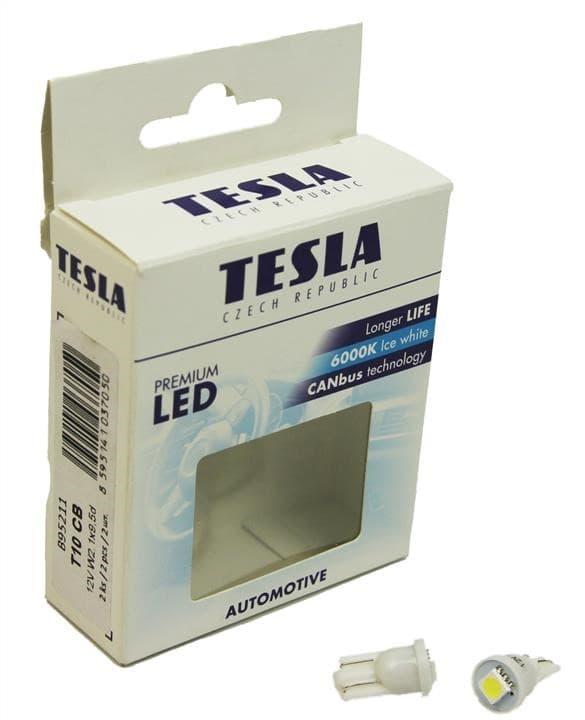 Лампа светодиодная Tesla T10 W2.1x9.5d LED B95211 2шт