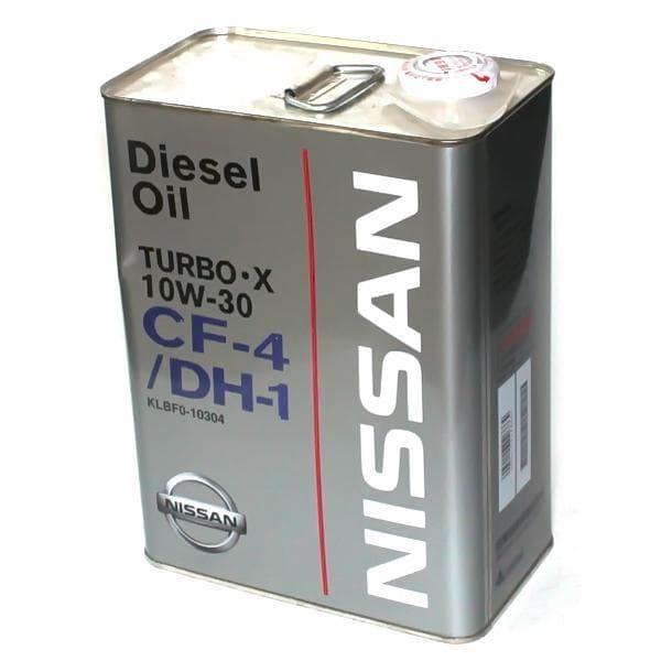 Моторное масло Nissan Turbo X CF-4/DH-1 10W-30 4л