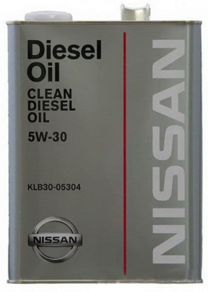 Моторное масло Nissan Clean Diesel Oil DL-1 5W-30 4л