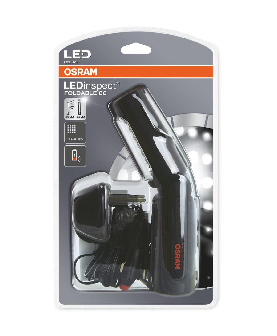Инспекционный фонарь с поворотным механизмом + встроенный аккумулятор Osram