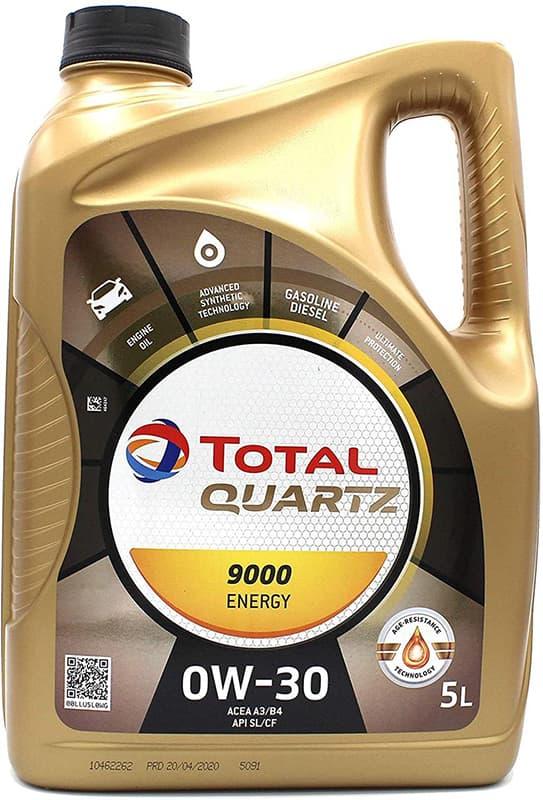 Моторное масло Total Quartz Energy 9000 0W-30 5л