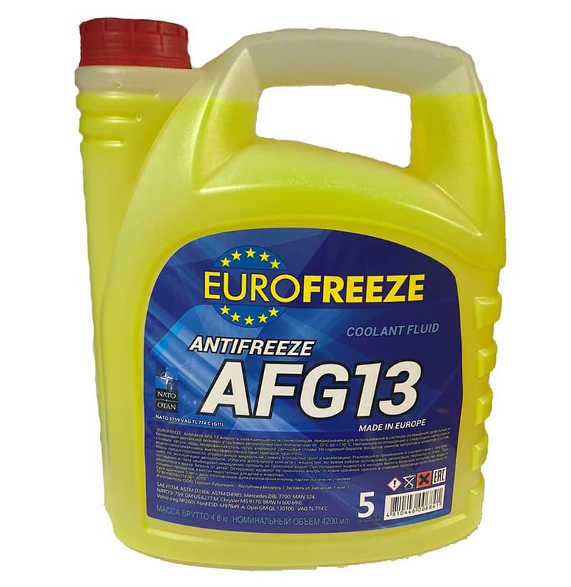Антифриз Eurofreeze AFG 13 -40C (4.8кг, желтый)