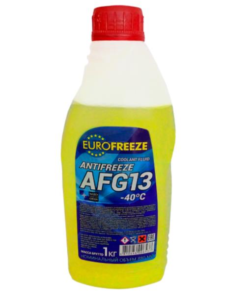 Антифриз Eurofreeze AFG 13 -40C (1кг, желтый)