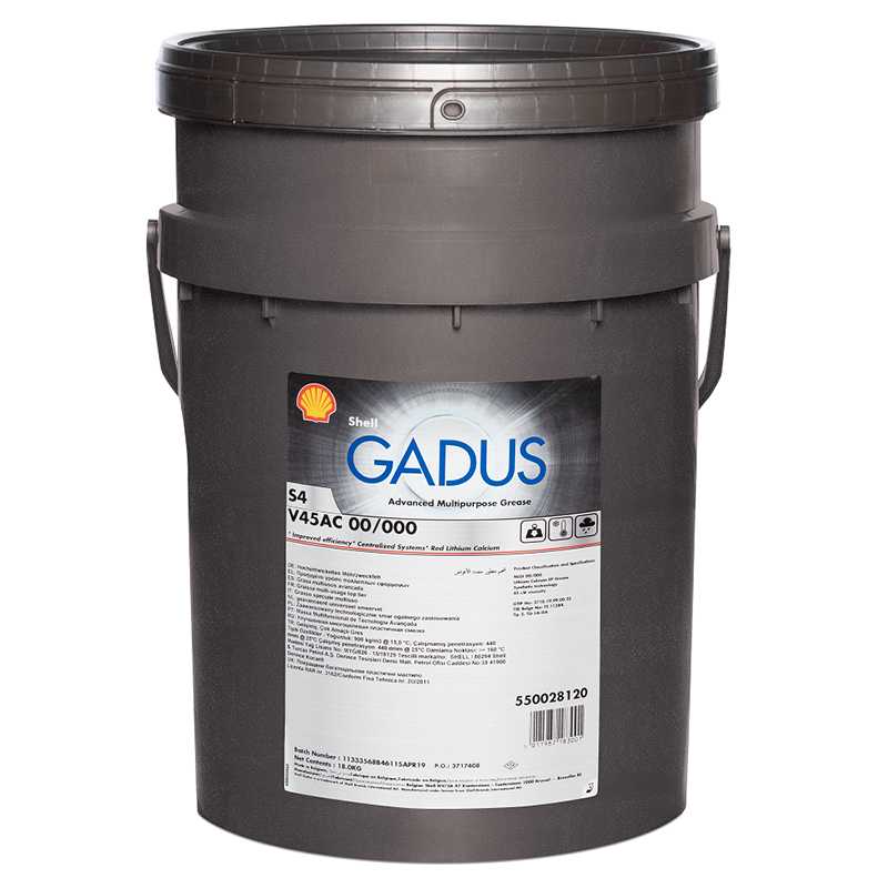 Смазка Shell Gadus S4 V45AC 00/000 18кг