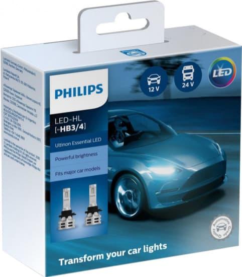 Лампа светодиодная Philips HB3/HB4 Ultinon Essential LED 2шт